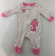 [M20] Koala Baby One Piece Cat Pajamas Daddy's Little Diva Girl'S Size 3 M EUC