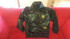 Adidas Chile 62 Giacca Tuta Sportiva Vintage Nero/Oro Lucido Collezione Raro M!