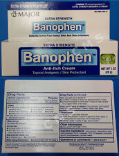 MAJOR BANOPHEN Anti-Itch Insect Bite Cream Topical Analgesic Benadryl 1oz