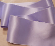 "2"" WIDE SWISS DOUBLE FACE SATIN RIBBON- IRIS / LAVENDER -   BTY"