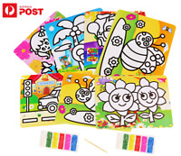 NEW Kids Color Sand Painting Art Creative Drawing Paper Art Crafts DIY Toy Kit