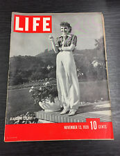 LIFE Magazine, November 13th 1939, Claudette Colbert