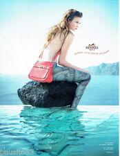 PUBLICITE ADVERTISING  026 2010  Hermès  sac Jypsière Clémence