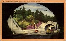 Los Angeles Kalifornien Color AK 1955 gelaufen Figueroa Street Tunnels Autos