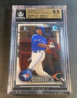 VLADIMIR GUERRERO JR 2016 BOWMAN CHROME #BCP55 1ST ROOKIE RC BGS 9.5 GEM
