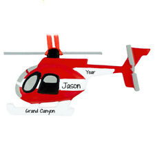 Hellicopter Personalized Christmas Tree Ornament