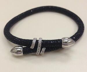 Genuine Stingray Sterling Silver Bracelet