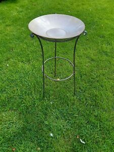 Heavy Duty Antique Style Handmade Bird Bath Stand Made From 8mm Steel
