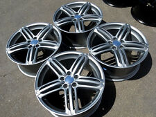 "18"" Wheels For Audi A4 A6 A8 Q5 VW CC Lux Rims 18x8 Inch Silver Rims Set of 4"