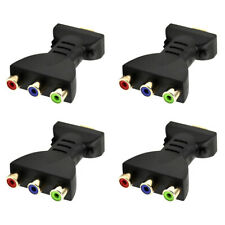 4 Pcs HDMI Male to 3 RCA Female Video Audio Adapter RGB Component Connector