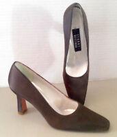 Stuart Weitzman Size 8AA Brown Satin Pumps Shoes