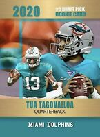 Tua Tagovailoa Miami Dolphins 2020 Limited Edition Rookie Card. Only 2,000 Made