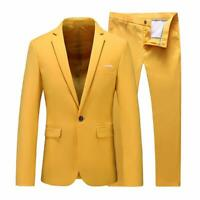 Wedding Suits Mens Slim Fit 2 Piece Groom Jacket Party Prom Tuxedo Suits Formal