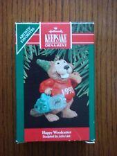 Hallmark - Happy Woodcutter (Beaver) Keepsake Ornament with Box - 1990