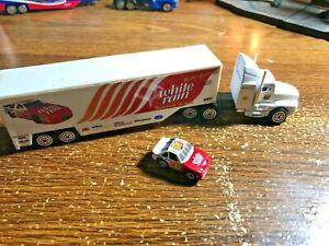 1997 Dale Jarrett #32 1/87 Busch Series White Rain Transporter Rig And Mini Car