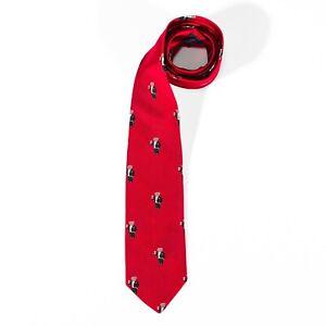 Polo Ralph Lauren Tie 100% Silk Red Tuxedo Bears Handmade Italy Classic Neck Tie