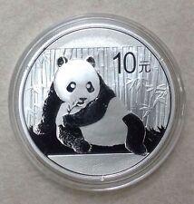 2015 China 1 Oz .999 Silver Panda 10 Yuan Coin In Mint Caps