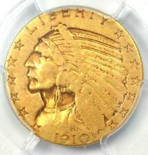 "1910-S Indian Gold Half Eagle $5 Coin - Certified PCGS VF35 - Rare ""S"" Mint!"