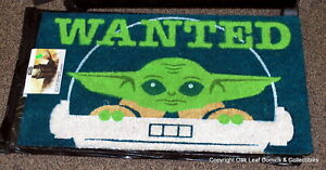 Baby Yoda Mandalorian The Child Star Wars Disney 29 x 17 Door Rug New In Package