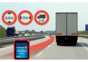 TomTom SD-Karte WORK Europa IQ TRUCK LKW mit 45 Länder für-> GPS Go Navigation #