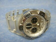 Women's FOSSIL Water Resistant Chronograph Watch w/ New Battery