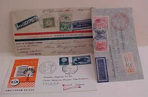 NETHERLANDS FLIGHT COVERS 1930 DENMARK CONSUL, 1934 ZEPPELIN CANCEL TO BRAZIL
