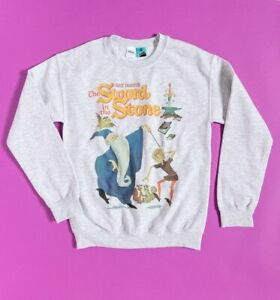 Official Disney The Sword In The Stone Grey Marl Sweater