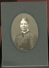 """Antique Matted Photo -Older Lady Close Up - PUSHEY Family (Hannah)  5""""x7"""""""