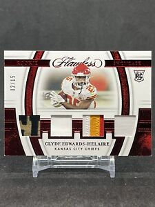 2020 Panini Flawless Rookie Showcase Clyde Edwards-Helaire Ruby Paralle 02/15