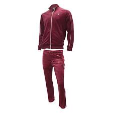 Fila Men's Velour Heather sweatsuit tracksuit Vintage Red New Size M L XL 2XL