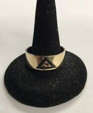 Mens 10k Yellow Gold Masonic Ring Virtus Junxit Mors Non Separabit Size 11