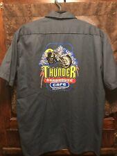 THUNDER ROADHOUSE CAFE OKC ~ Mens XL ~ NEW MILLER LITE Beer Delivery Work Shirt