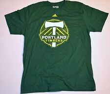 NEW ADIDAS MLS MENS GREEN LARGE T-SHIRT PORTLAND TIMBERS SOCCER