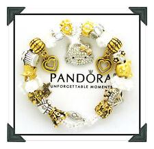 Authentic Pandora Silver Bracelet Hello Kitty Gold Silver European Charms Box
