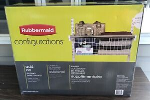 Rubbermaid Configurations Add On Sliding Basket  3J05 White New In Box