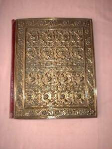 Antique Blotter case with an Rococco style cast brass cover