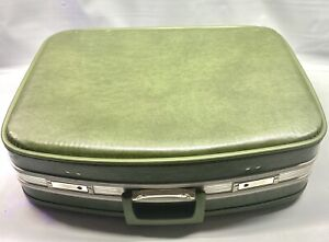 Vtg Nesting Luggage Avocado Green Unmarked 1960's-70s With Wear