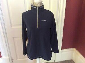 Ladies Craghoppers Half Zip Fleece Top Size 12 Blue Long Sleeves