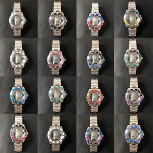40MM Glass Sapphire Glass Watch Case Band Strap for NH35/NH36 Watch Movement