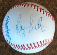 Ray Perkins Alabama Football Coach Autograph on an Official Major Baseball Auto