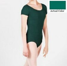 Mondor 496 Hemlock Green Child's Toddler Extra Small (2-4) Short Sleeve Leotard