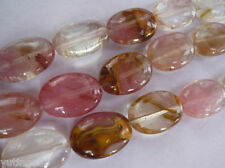 "13x18mm Watermelon Tourmaline Gem Oval Loose Beads 15"""