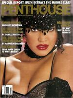 Penthouse March 1992 / Miss Nude World / Liz Taylor / Chuck Norris Interview