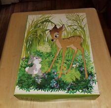 Vintage 1972 Bambi Thumper Walt Disney Springbok Children's Jigsaw Puzzle 100 pc