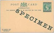 GIBRALTAR -  POSTAL STATIONERY CARD: HALF PENNY - SPECIMEN