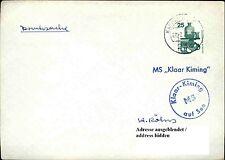 Schiffspost Brief Schiff MS KLAAR KIMING Bordpoststempel auf See Seepost 1973