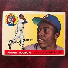 1955 Topps Set HANK AARON ERROR #47 MILWAUKEE BRAVES - VG/VG-EX