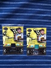 06 Wheels Dale Jarrett Flag Chasers 2-card Lot Black & Green /110