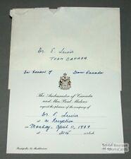 1977 Team Canada Reception Invitation Ticket #3