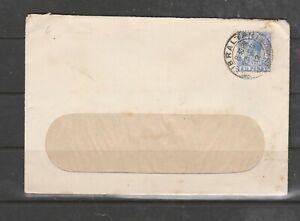 Gibraltar cover 1912, window envelope, 2 1/2d GV def,